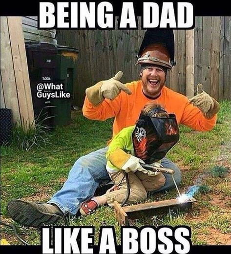 I can't wait for the day my son can just sit with me and weld like a boss !