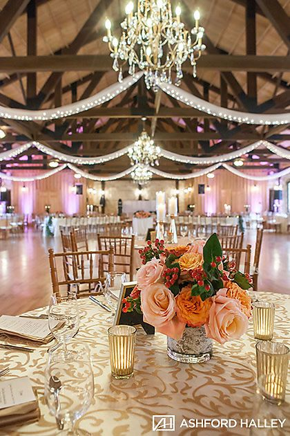 Peach Wedding Reception Gold Peach Wedding Reception Decor