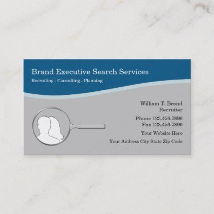 Employment Executive Search Agency Business Cards Zazzle Com In 2020 Agency Business Cards Executive Search Job Agency