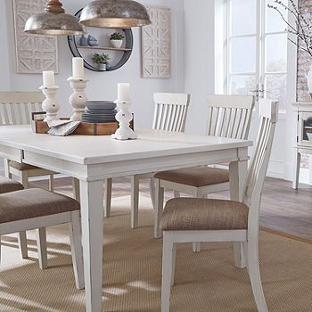 Signature Design By Ashley Danbeck Rectangular Dining Table Color Chipped White Jcpenney Rectangular Dining Table Dining Table Signature Design By Ashley
