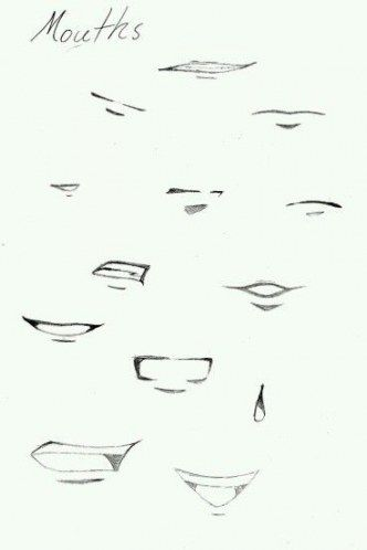 70 Ideas How To Draw Mouth Anime Drawings Tutorials Mouth Drawing Manga Mouth