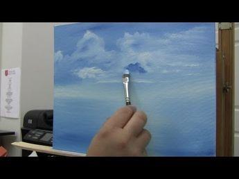 Yagli Boya Resimde Bulut Nasil Yapilir Bulut Resmi Cizimi Youtube Cloud Painting Acrylic Painting Flowers Learn To Paint