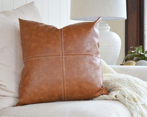 Pin on Faux Leather Pillow
