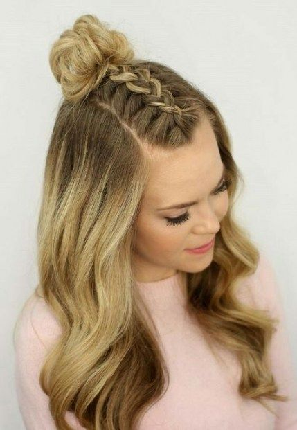 31 Ideas For Hairstyles For School Easy Short Braided Top Knots Hair Styles Dance Hairstyles