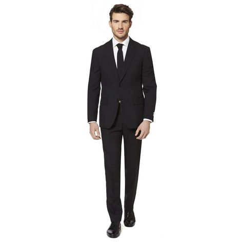 US 40 Opposuits Black Knight Black Suit For Men With Pants Jacket and Tie