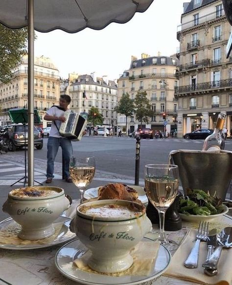 Cafe Flore in Paris, France City Aesthetic, Travel Aesthetic, Aesthetic Coffee, Aesthetic Pics, Workout Aesthetic, The Places Youll Go, Places To Go, European Summer, European Cafe