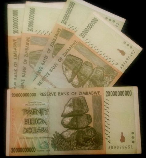 Zimbabwe 5 Billion Dollars x 25 Pcs 2008 AA//AB Cir 50 /& 100 Trillion Series