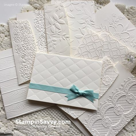 Nothing says love like handmade note cards! Let your Big Shot Machine do the work for you with todays' quick & easy embossed Note Card project