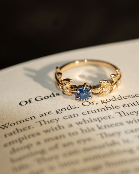 Royal Baby Goddess Ring in Ceylon Blue Sapphire and White Diamonds Aesthetic Rings, Gold Aesthetic, Royal Rings, Royal Blue And Gold, White Gold, Blue Gold, Blue Rings, Blue Sapphire Rings, Yellow Gold Rings