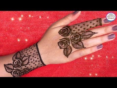 How To Apply Simple Arabic Mehndi Designs For Back Hands Jewellery Style Henna By Jyoti Sachdeva Youtube Mehndi Desain Henna Mehndi Designs
