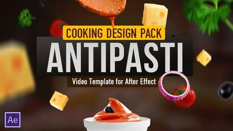Cooking Antipasto Salad Recipe Template - After Effects Template