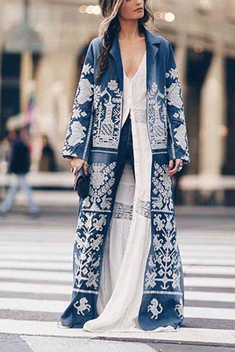 2014 Autumn new European style chiffon flowers long cardigan
