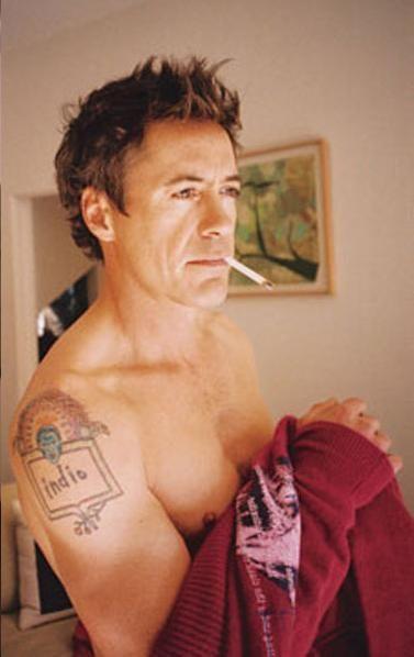 Rdj Tattoo : tattoo, Robert, Downey, Photo:, Tattoo, Junior,