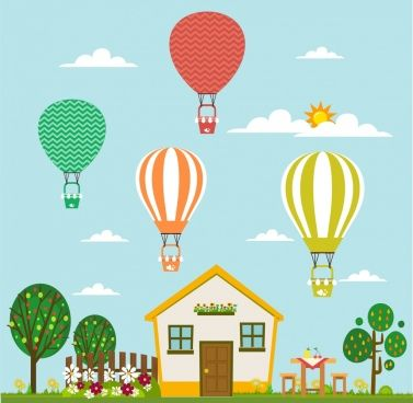 Balloons Performance Theme Nice House Decoration Colorful Design