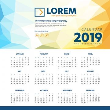 Calendar 2019 Colorful Template Vector Illustration Desk Office New Year Calendar Icons New Icons Office Icons Png And Vector With Transparent Background For Desk Calendar Template Free Printable Calendar Templates Free