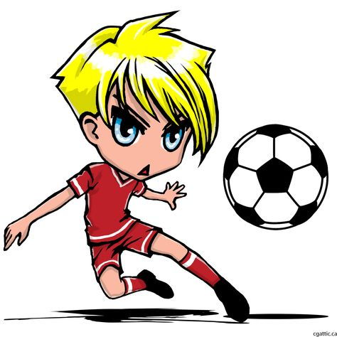 Cartoon Soccer Player Drawing In 4 Steps With Photoshop Soccer Drawing Cute Little Drawings Soccer Players