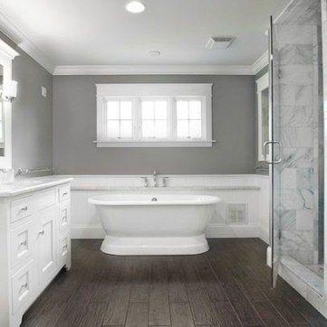 Best Dark Wood Floors Bathroom Gray Walls 20 Ideas Wood Tile Bathroom Grey Bathrooms Bathrooms Remodel