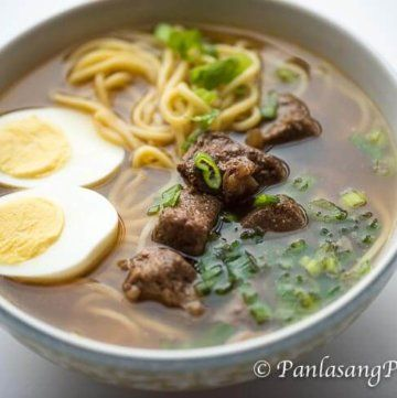 Beef Pares Mami Noodles Recipe Filipino Dishes Soup Dish Beef Pares Noodle Recipes