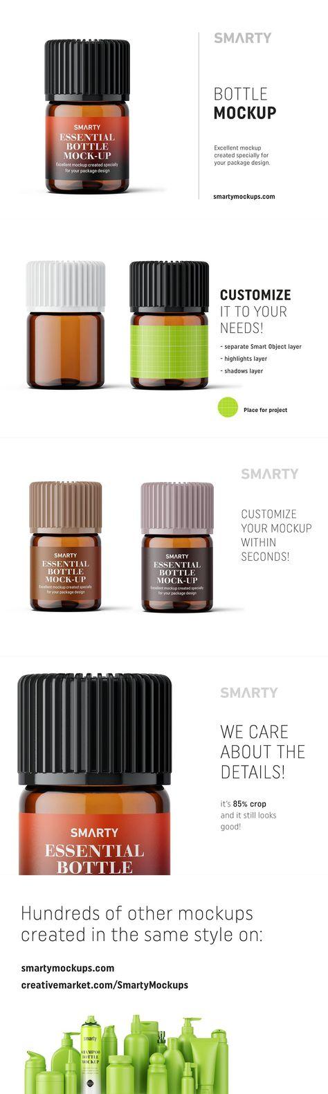 Essential oil bottle mockup 2ml