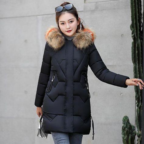 Fashion Hooded Big Fur Coat New Winter Jacket Women Warm