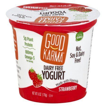 Good Karma Dairy Free Strawberry Yogurt 6 Oz Walmart Com Dairy Free Yogurt Strawberry Yogurt