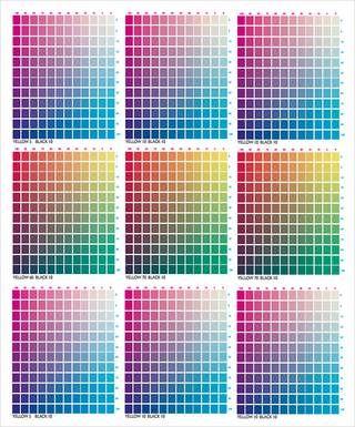 Cmyk Color Chart For Illustrator Cmyk Color Chart Color Palette Challenge Pms Color Chart