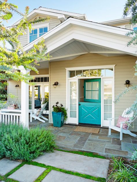 turquoise dutch door | Alison Kandler Interior Design