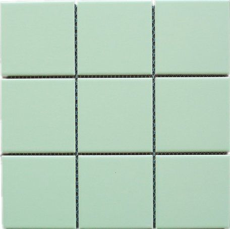 4 X 4 Square Mint Green Porcelain Matt Finish Floor Wall Tile Mosaic Tile 11 3 4 In X 11 3 4 In X 6mm Thickn Porcelain Mosaic Mosaic Wall Mosaic Tiles