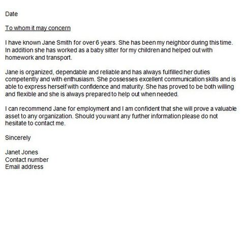 Character Reference Letter - http\/\/getresumetemplateinfo\/3947 - character letter of recommendation