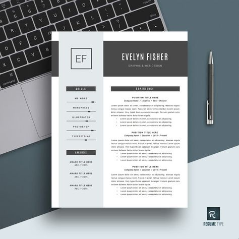 Resume Template + Cover Letter and References for MS Word // CV Template // Professional Resume Design // Instant Download // Mac & Pc