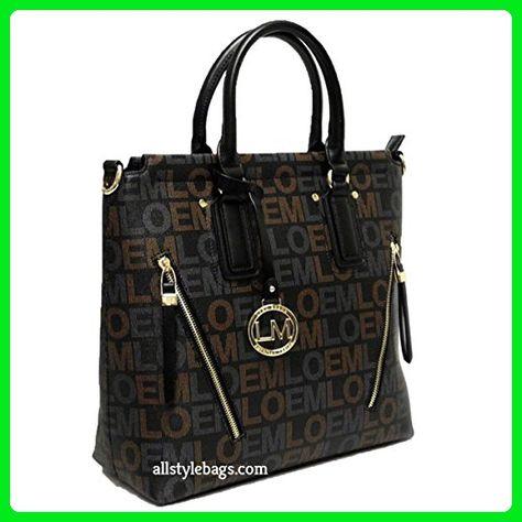 43ac318636c5 LOEM black brand signature shoulder Bag handbag zipper pockets designer  inspired - Shoulder bags (*Amazon Partner-Link)