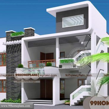 Simple Terrace Design For Small House 2nd Floor In 2020 Small House Design Modern House Floor Plans Simple House Design