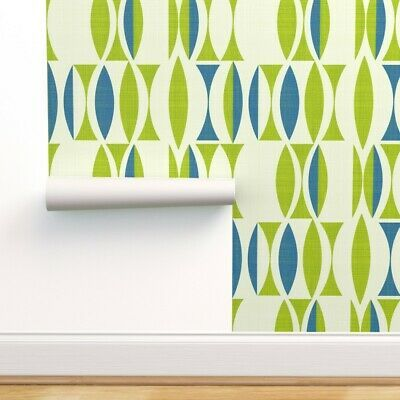 Peel And Stick Removable Wallpaper Mid Century Modern Mod Blue Ebay Modern Wallpaper Mid Century Modern Wallpaper Green Wallpaper