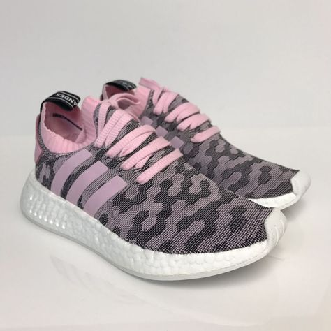279ef11ab01bd Adidas NMD R2 PK Primeknit W Womens Wonder Pink Core Black BY9521 Boost  Original