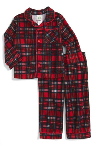 Boys plaid christmas PJs
