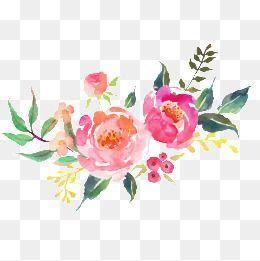 Resultado De Imagen Para Water Color Flower Png Ilustracion Acuarela Clipart De Flor Fondos Acuarela
