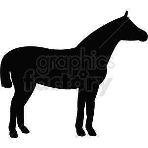 Vector Horse Silhouette Outline Horse Silhouette Clip Art Animal Silhouette