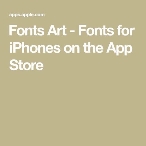 ‎Fonts Art - Fonts for iPhones on the App Store