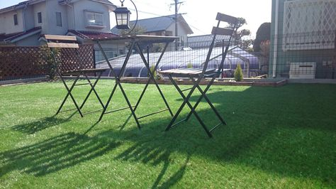 Diy 庭に人工芝を敷く 防草シート 人工芝編 人工芝 Diy 庭