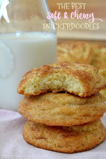 The Best Soft & Chewy Snickerdoodles