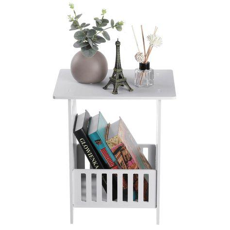 Modern Nightstand Bedroom Bedside Table Storage Cabinet Organizer Desk Rack