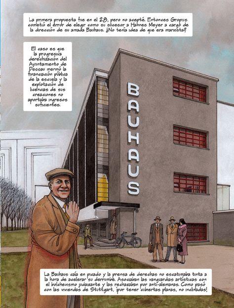 Comic En Homenaje Al Arquitecto De La Bauhaus Mies Van Der Rohe En 2020 Dibujo Arquitectonico Licenciatura En Arquitectura Comic