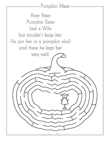 A Collection Of Fall Themed Mazes And Worksheets For Kids Featuring