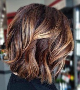 Fabulous brown hair colors with blonde highlights - haircut . - Fabulous brown hair colors with bl Gray Highlights Brown Hair, Brown Bob Hair, Brown Hair Balayage, Brown Blonde Hair, Ombre Hair, Ombre Brown, Color Highlights, Balayage Color, Blonde Honey