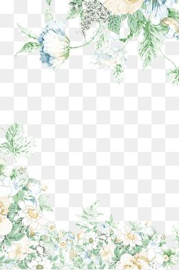 Shading Flowers In 2020 Flower Border Png Free Watercolor