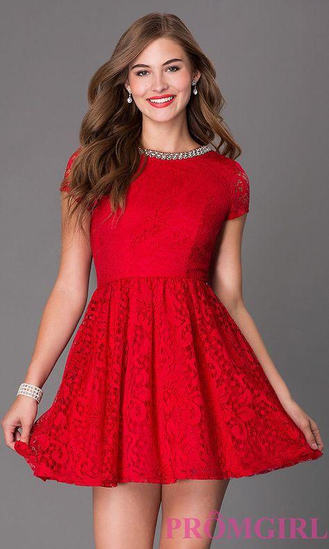 30 Vestidos Cortos Para Fiesta En Color Rojo En 2019