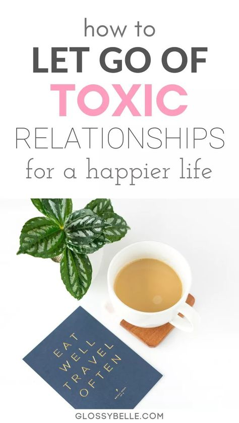Dealing with a toxic person can be really hard, no matter if it's in a romantic relationship or platonic friendship. However, at some point it's important to put your own mental health and happiness first. In this post, I cover how to let go of a toxic relationship that may be draining all of your mental energy while letting yourself heal.   self-love   joy #mentalhealth #selfcare #selflove #relationship #relationshipadvice #happiness #breakup