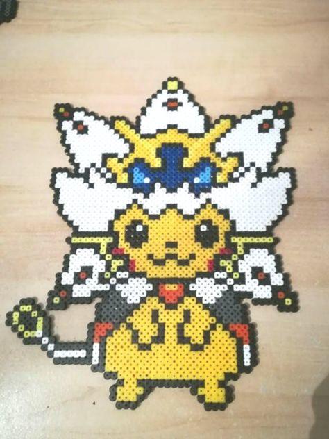 Pixel Art Perler Beads Pokemon Pikachu Solgaleo Art