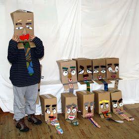 reciclando en la escuela: 101. SeÑoReS CaJa | Cajas, Cosas de ...