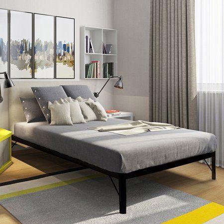 Home Bed Slats Metal Bed Frame White Bed Frame